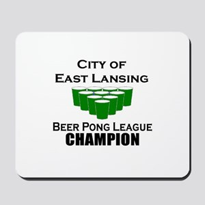 City of East Lansing Beer Pon Mousepad