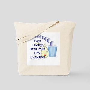 East Lansing Beer Pong City C Tote Bag