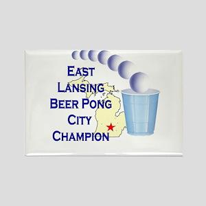 East Lansing Beer Pong City C Rectangle Magnet