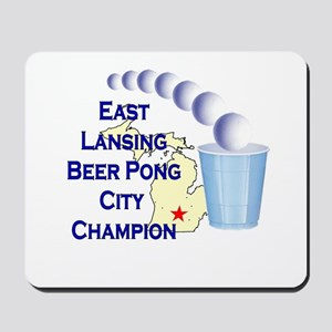 East Lansing Beer Pong City C Mousepad