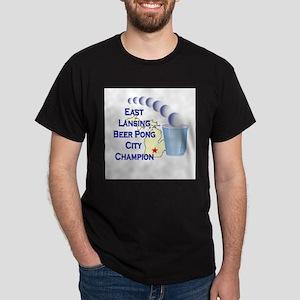 East Lansing Beer Pong City C Dark T-Shirt