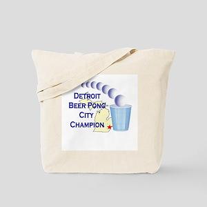 Detroit Beer Pong League Cham Tote Bag