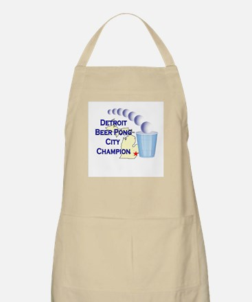 Detroit Beer Pong League Cham BBQ Apron