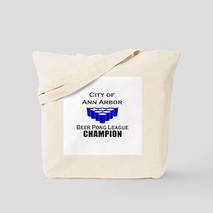 City of Ann Arbor Beer Pong L Tote Bag