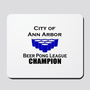 City of Ann Arbor Beer Pong L Mousepad