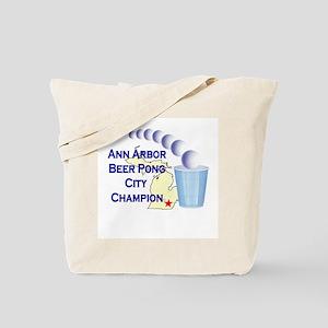 Ann Arbor Beer Pong City Cham Tote Bag