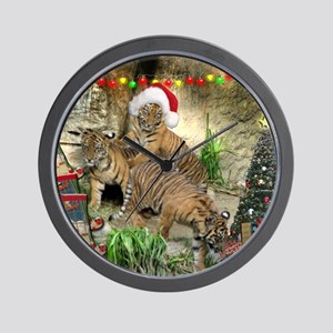 Helaine's Tiger Cubs' Xmas Wall Clock
