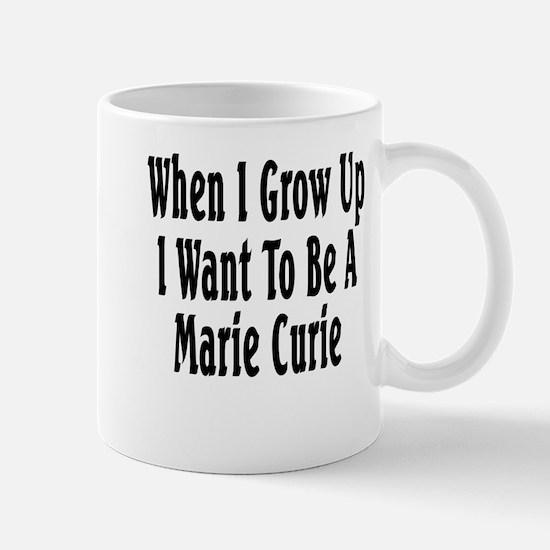 Marie Curie (black) Mug