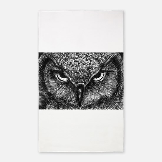 Glaring Owl Area Rug