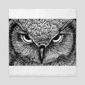 Glaring Owl Queen Duvet