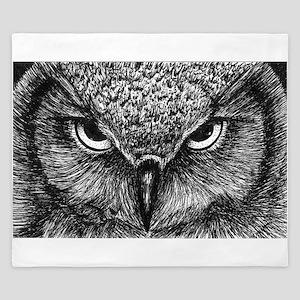 Glaring Owl King Duvet