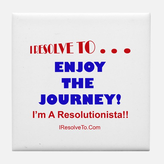 Cool New year resolution Tile Coaster
