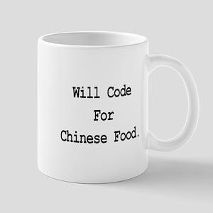 Will Code For Chinese Food Mug
