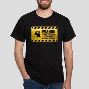 Warning Special Education Teacher Dark T-Shirt