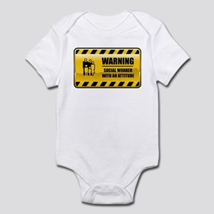 Warning Social Worker Infant Bodysuit