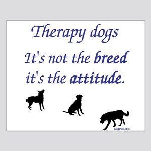 Best Therapy Breed Small Poster