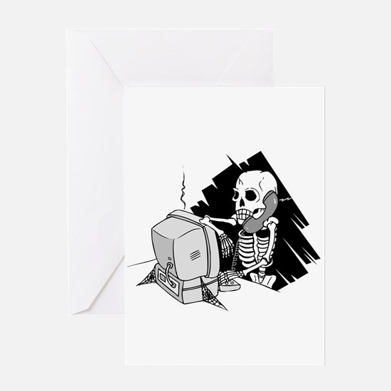 Funny Software Pirate Greeting Card