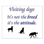 Visiting Dogs Small Poster