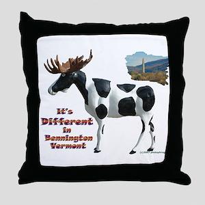 It's Different in Bennington  Throw Pillow