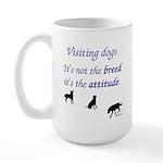 Visiting Dogs Large Mug