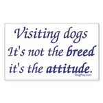 Visiting Dogs Rectangle Sticker