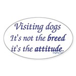 Visiting Dogs Oval Sticker