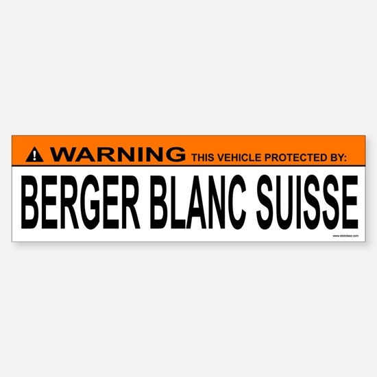 BERGER BLANC SUISSE Bumper Bumper Bumper Sticker