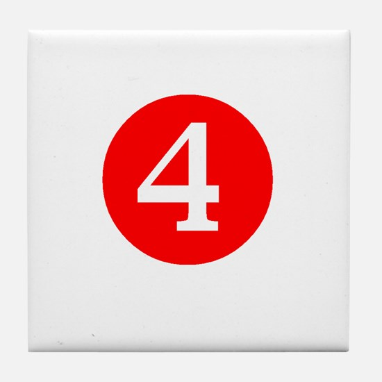 Fourth Birthday Tile Coaster