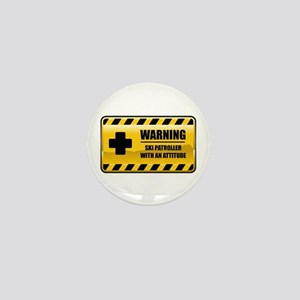 Warning Ski Patroller Mini Button