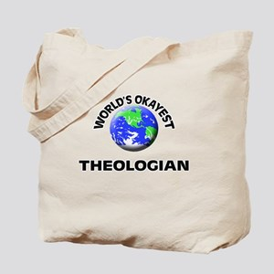 World's Okayest Theologian Tote Bag