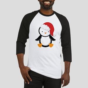 Santa Penguin Christmas Baseball Jersey