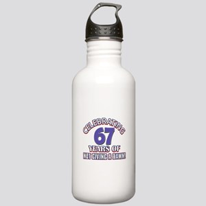 Funny 67 Years Birthda Stainless Water Bottle 1.0L
