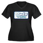 WDW Today Women's Plus Size V-Neck Dark T-Shirt