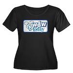WDW Today Women's Plus Size Scoop Neck Dark T-Shir