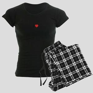 I Love CARAVANNING Women's Dark Pajamas
