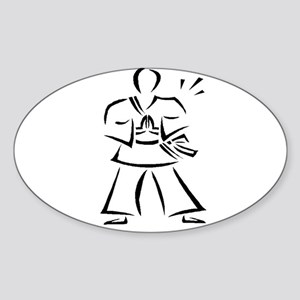 Martial Arts - Karate Time ! Oval Sticker