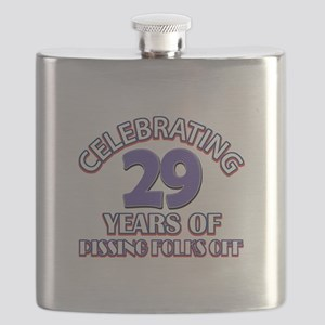 29 years pissing folks off Birthday Flask