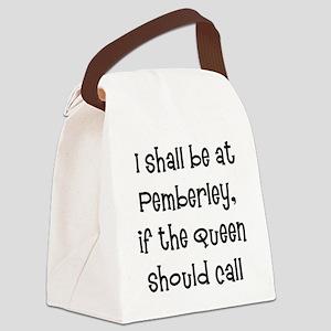 pemberley queen Canvas Lunch Bag