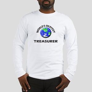 World's Okayest Treasurer Long Sleeve T-Shirt