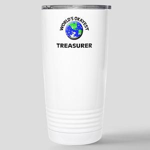 World's Okayest Treasur Stainless Steel Travel Mug