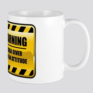 Warning Scuba Diver Mug