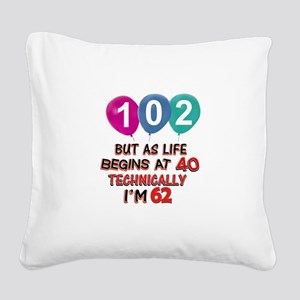 102 years.. but technically y Square Canvas Pillow