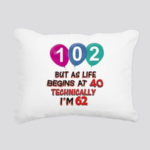 102 years.. but technica Rectangular Canvas Pillow