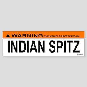INDIAN SPITZ Bumper Sticker