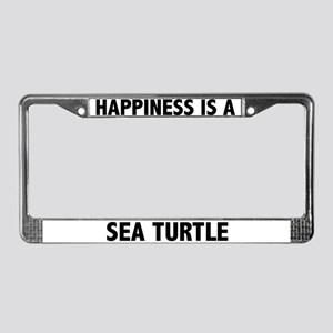 Happiness Is A Sea Turtle License Plate Frame