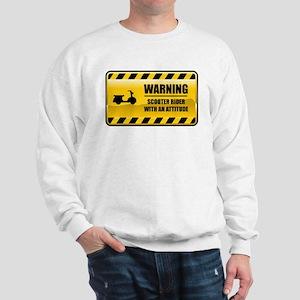 Warning Scooter Rider Sweatshirt