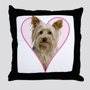 Heart Yorkie - Throw Pillow