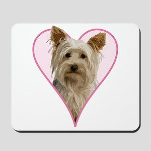 Heart Yorkie - Mousepad