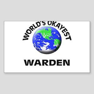 World's Okayest Warden Sticker
