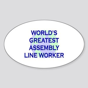 World's Greatest Assembly Lin Oval Sticker